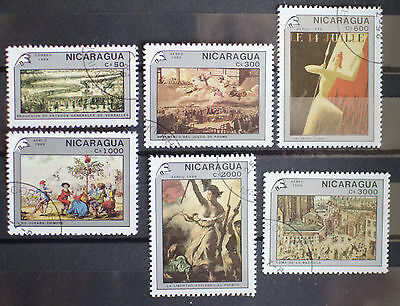 Nicaragua 1989 Art/Paintings French Revolution Used