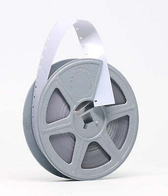 NEW KODAK 16MM White Acetate Leader Single Perf 100 ft Reel