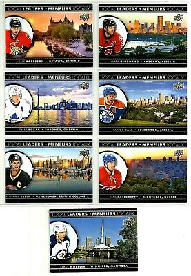 2016-17 TIM HORTONS UD LOCAL LEADERS COMPLETE 7 CARD INSERT SET LOT Rare Mint