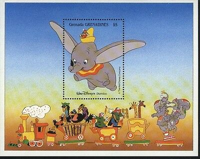 Grenada-Grenadines MNH Sc 995 Dumbo Disney Souvenir sheet