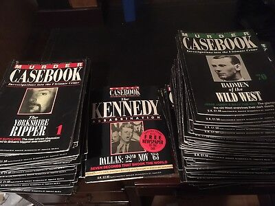 Murder Casebook collection 149 issues including JFK special