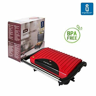 Aigostar Warme 30HHH – Grill multifonction, plancha, presse à paninis, appare...