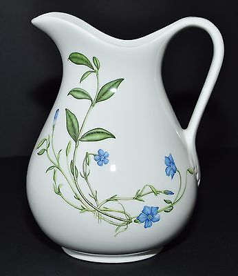 Portmeirion Queen's Hidden Garden Honeysuckle Blue Flower Pitcher Jug Vase