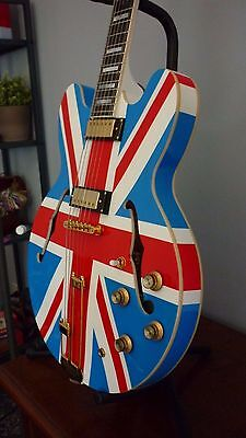 Epiphone Sheraton Union Jack Limited Noel Gallagher Oasis - Refinished