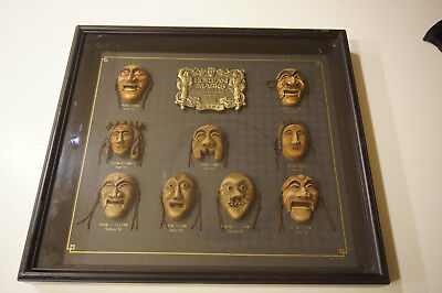 Halloween Korean scary miniature masks authentic mounted framed
