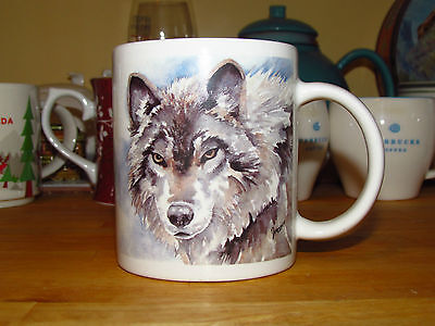 Beautiful KEIRSTEAD GALLERY WOLF – WOLVES Design Coffee Mug / Cup