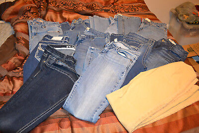 11 Pairs of women's jeans various brands and sizes