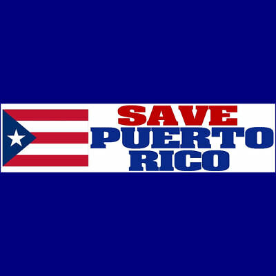 SAVE PUERTO RICO Bumper Sticker  $2.79  BUY 2 GET 1 FREE