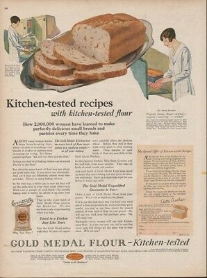 Gold Medal Flour Washburn-Crosby Orange Bread Kitchen Tested Recipes 1925 Ad