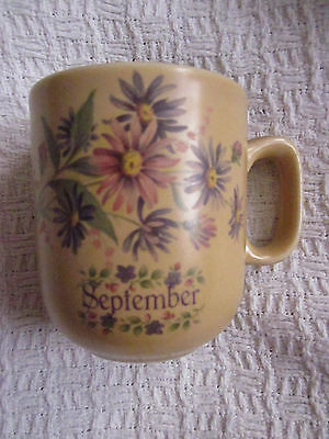Honiton Pottery Month Mug Flowers - September