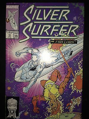 Silver Surfer #19 (Jan 1989, Marvel) vs.Firelord
