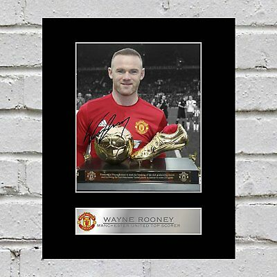 Wayne Rooney Signed Mounted Photo Display Manchester United FC