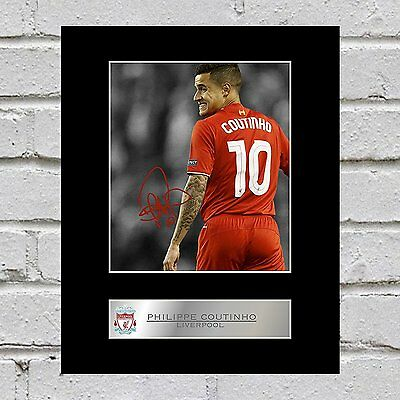Philippe Coutinho Signed Mounted Photo Display Liverpool FC