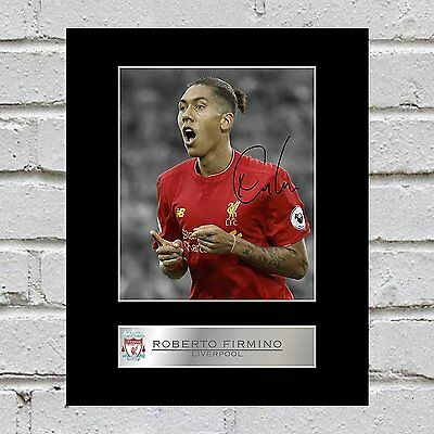 Roberto Firmino Signed Mounted Photo Display Liverpool FC