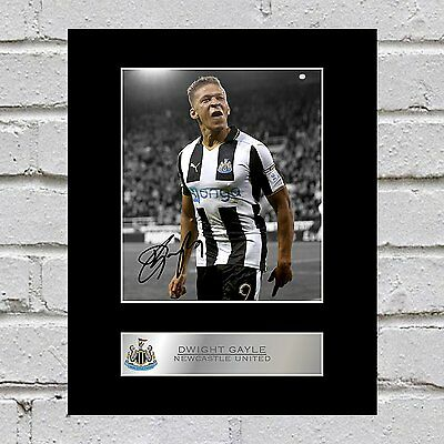 Dwight Gayle Signed Mounted Photo Display Newcastle United FC
