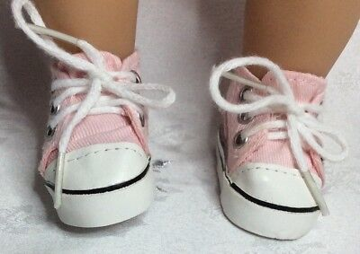 "Handmade Dolls Clothes To Fit 13"" Little Baby Born -  Pink Canvas Shoes"