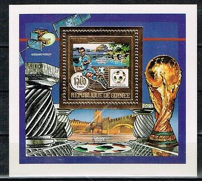 Guinea.1990 World Cup.Soccer.Football.Fussball.Gold.MNH.**