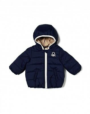Benetton Baby Down Puffer Jacket Hood Quilted Puffer Coat 3 4 Years Boys Toddler