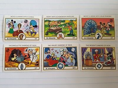 1989 Disney St Vincent Indian Stamp Exhibitions stamps