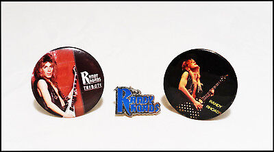 Randy Rhoads Ozzy 80's Buttons Pins & Pendant Tribute