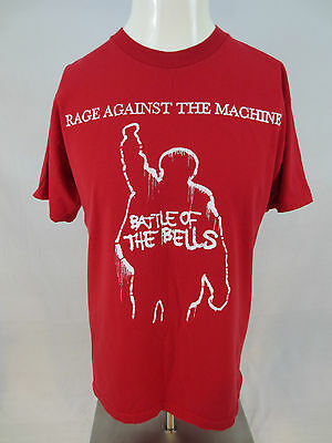 Rage Against the Machine 2007 T Shirt Red 2 Sided Battle of the Belles