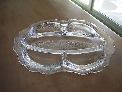 "Cambridge Diane Clear Five-Part 12"" Relish Dish FREE SHIPPING."