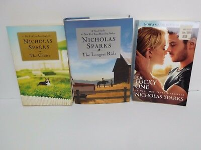 $55 ~ 3 BOOK LOT NICHOLAS SPARKS ~ The Choice * The Lucky One * The Longest Ride