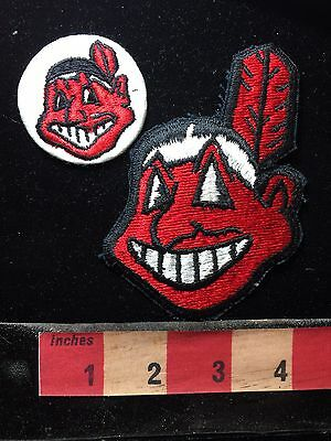 Ohio Patch Lot ~ Cleveland Indians ~ 2 Patches S75T