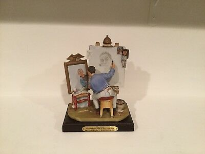 "Norman Rockwell's Figurine: The Saturday Evening Post ""Triple Self Portrait"