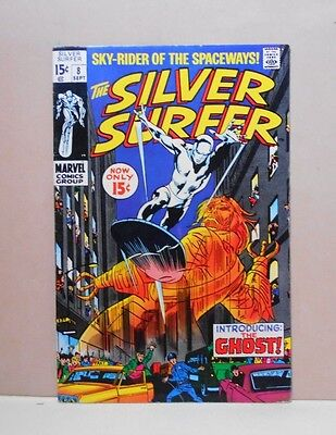 SILVER SURFER Vol.1#8 Marvel 9/69 7.0 FN/VF Uncertified THE GHOST Stan Lee