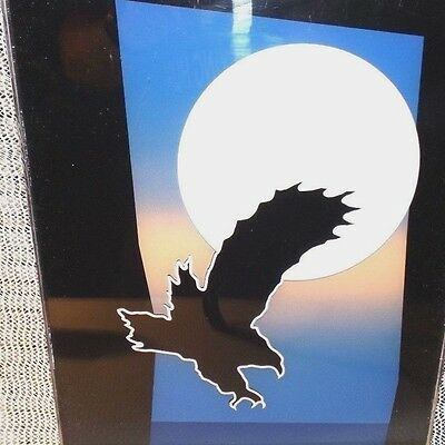 """EAGLE IN THE MOONLIGHT 9""""  Amber LED Wall/Bar Sign    UnIQuE ***SEE PHOTOS***"""