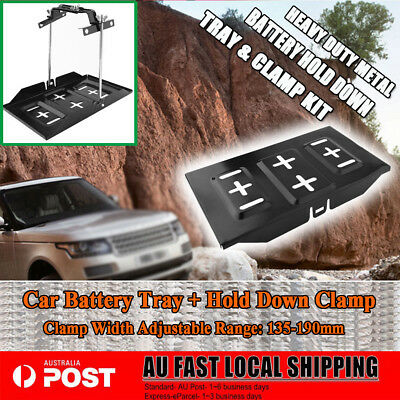 Hot Car Battery Tray Hold Down Dual Deep Cycle Tool Set Universal 135-190Mm Au