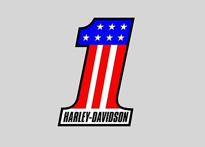 Harley Davidson One #1 Car Auto Window Bumper Sticker Decal Small