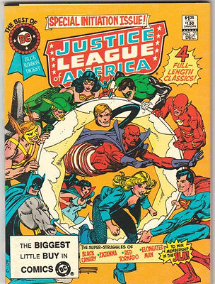 The Best of DC #31 VF- Justice League of America Blue Ribbon Comics Digest 1982