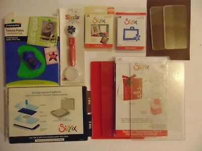 Sizzix Big Kick Lot of 35 Extras Dies Cutting pad Texture plates Silicone Rubber