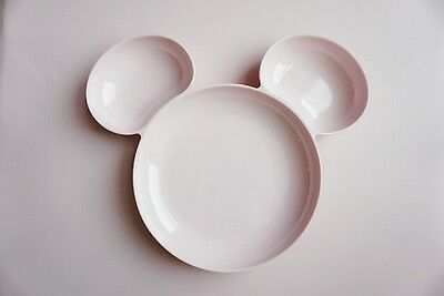 Melamine Mickey Mouse Plate Tray Dish Dining Table ware Kids US Seller 3 colors