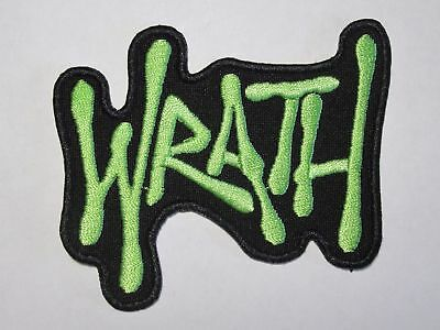 WRATH embroidered NEW patch thrash metal