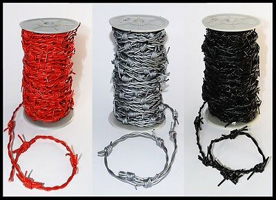 Silver, Red Or Black Leather Barbed Wire Woven Real Fake Cord   1M 2M 5M 10M 20M