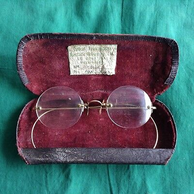 Antique Gold Rim Spectacles Historical Melbourne Collins St Optometry Medical
