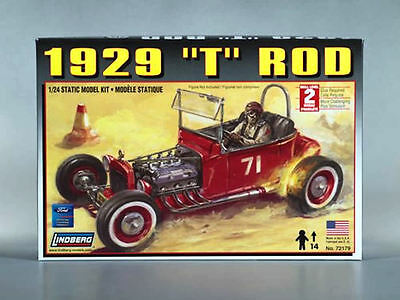 1929 Ford T Hot Rod - Lindberg 1:24 scale Kit 72179