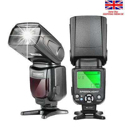 UK Shipping NEEWER NW-561 Speedlite Flash with LCD Display for Canon & Nikon Son