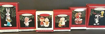 Lot of 6 Hallmark Keepsake Christmas Ornaments Looney tunes