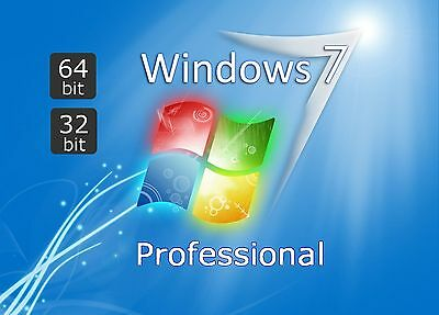 Windows 7 Professional VOLLVERSION Win 7 Pro OEM KEY, Keine DVD, Key per Email
