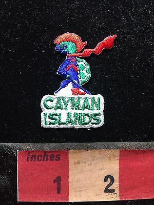 Small CAYMAN ISLANDS FROG Caribbean Islands Patch 76FF