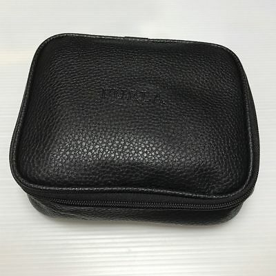 Turkish Airlines Furla Business Class Black PU Leather Travel Amenity Bag