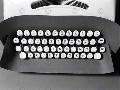 PHOTO OLD TYPEWRITER Keyboard Retro Vintage Framed Print