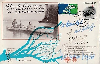 Nederlands issued cover signed  Steinhoff, Rudorffer, Hogeback + Steve Pisanos