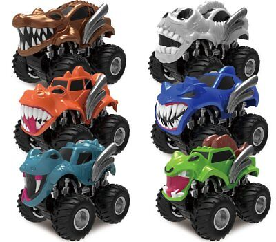 Joyin Toy 6 Pack Monster Friction Powered Truck Vehicles Big Tire Wheel Car