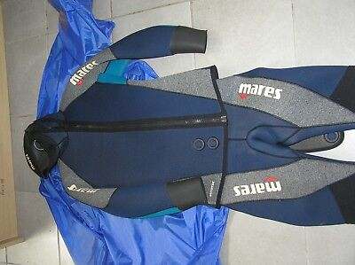 Mares Antartide 7mm Semi Dry Suit Size MM - Grey & Blue