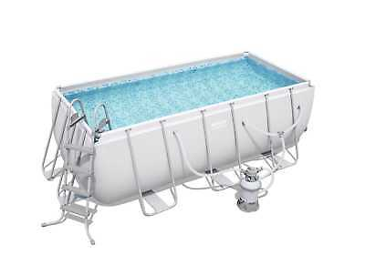 "Bestway Above Ground Steel Frame Swimming Pool 162""x79""x48"" with Sand Filter"